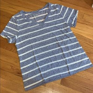 — Old Navy — Striped Blue & White T-shirt